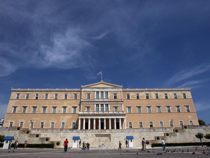Sieben Parteien im griechischen Parlament