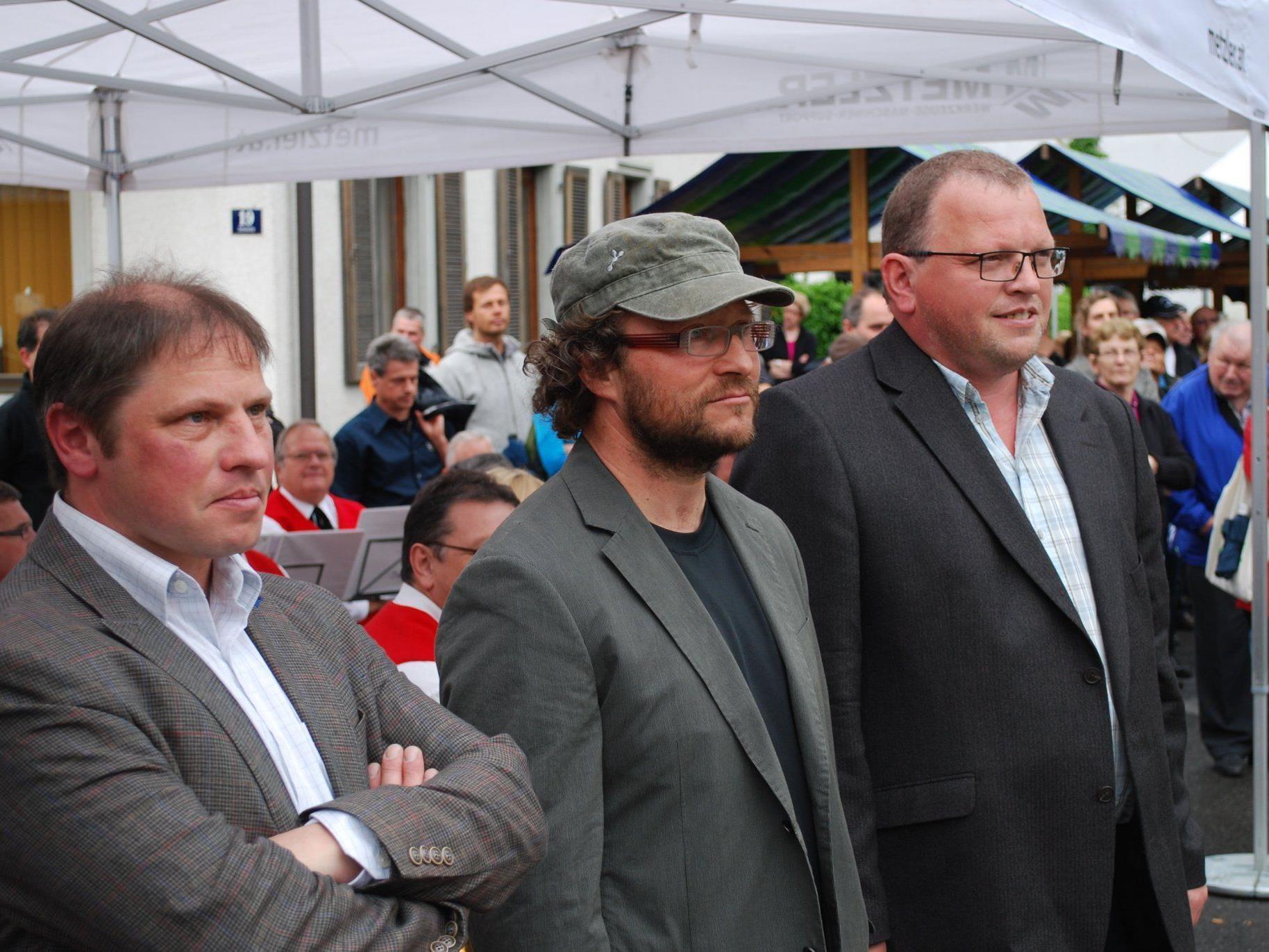 Die Betreiber Markus Summer, Wilfried Amman und Manfred Bischof.