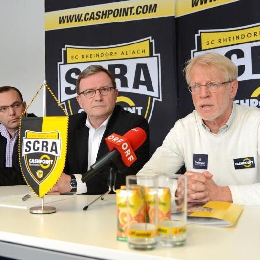 Am 6. April war Edi Stöhr (r.) beim Cashpoint-Klub angetreten, um den Meistertitel nach Altach zu holen.
