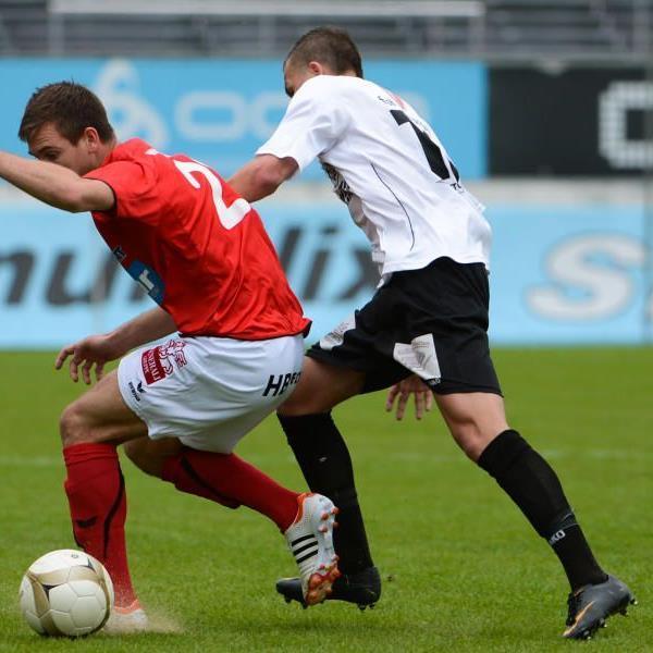 Fabian Flatz spielte 68 Minuten lang im Heimspiel gegen Hall.