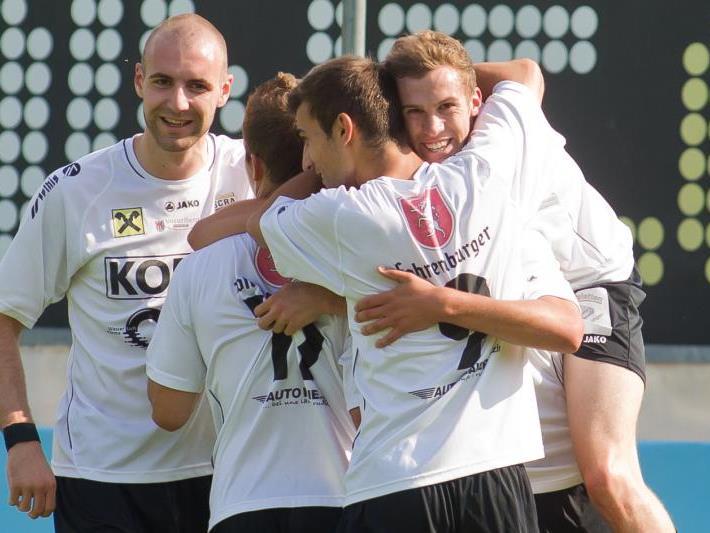 Viermal durfte Altach Amateure im letzten Saisonspiel jubeln.