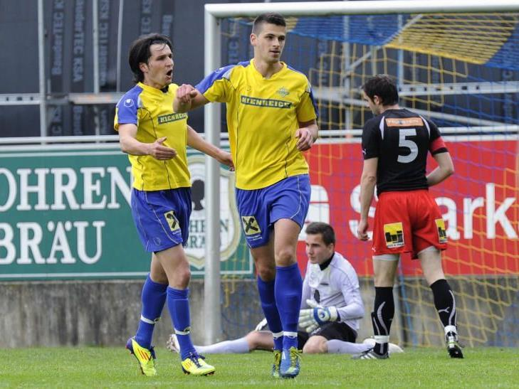Goldtorschütze Aleksandar Palackovic traf für Wolfurt ins Schwarze.