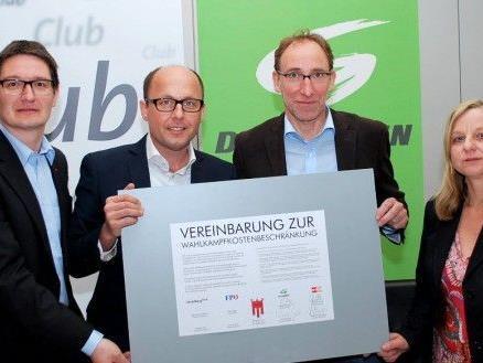 Grüne und SPÖ haben bereits Wahlkampf-Vereinbarung unterschieben.