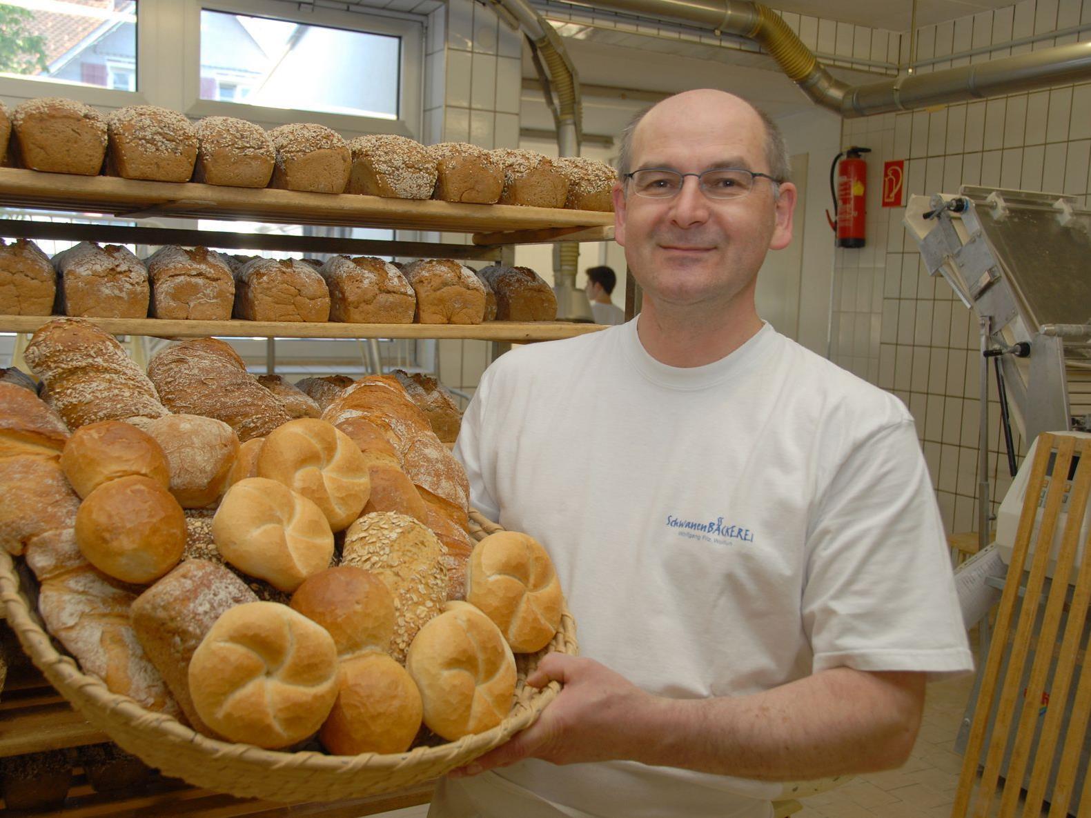 Chef der Schwanenbäckerei Wolfgang Fitz