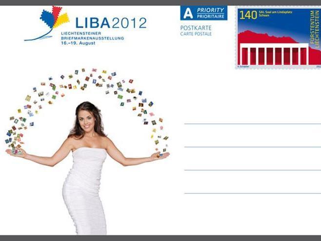 """Eine der drei sogenannten """"Ganzsachen"""" (Postkarten mit aufgedruckter Briefmarke) zur LIBA 2012"""
