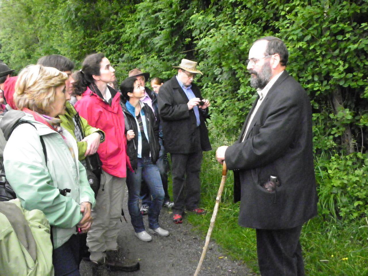 Prof. Grabherr führte die Exkursionsteilnehmer durch das Naturschutzgebiet