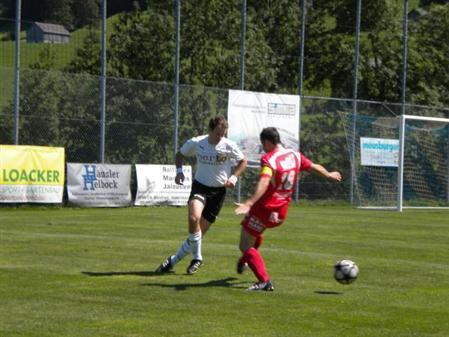 Der FCS 1b verlor in Mellau 1:3 - im Bild Spielertrainer Christoph Stocker