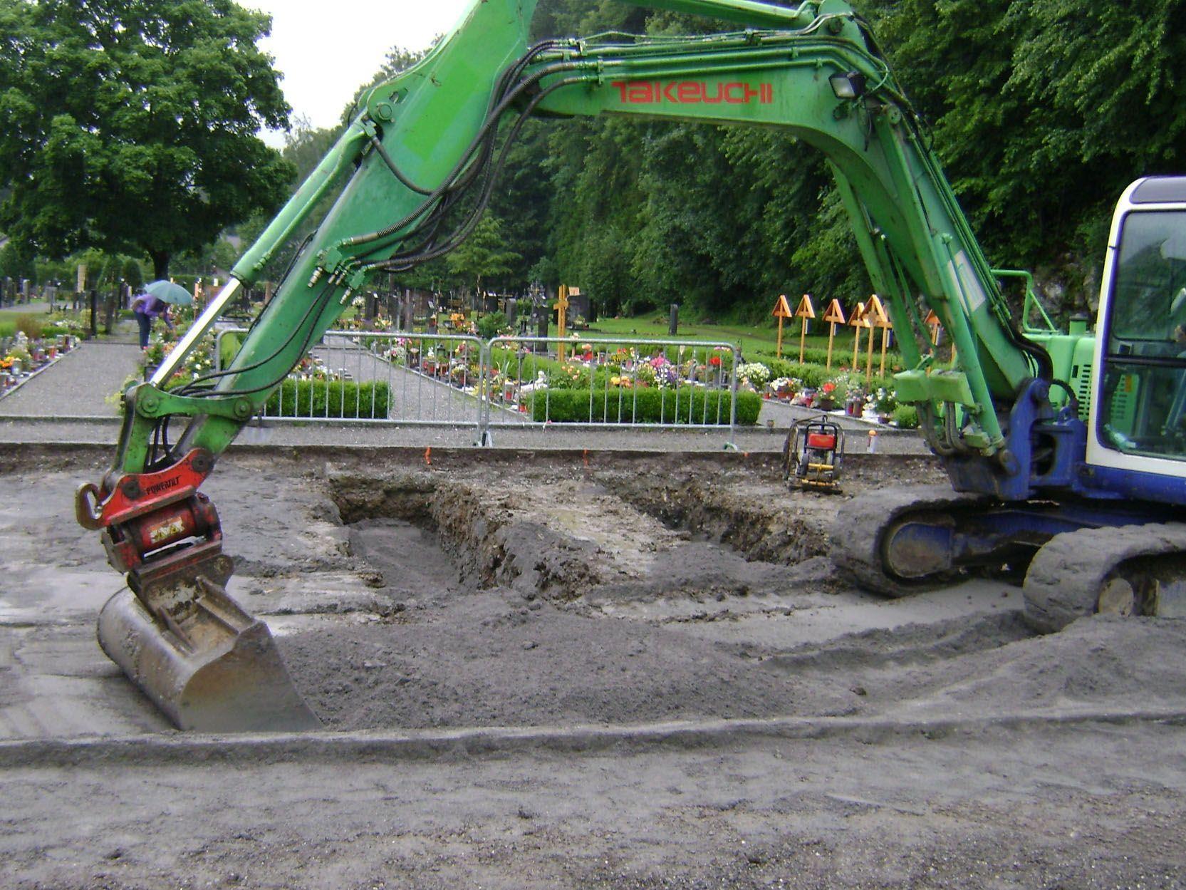 80 neue Urnengräber entstehen derzeit im Waldfriedhof in Rankweil