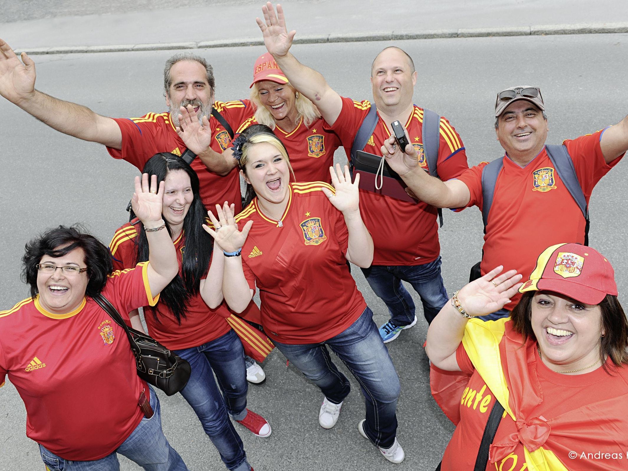 Begeisterte Spanien-Fans