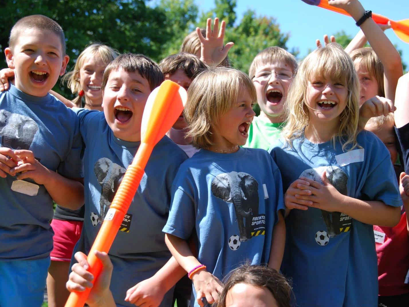 Im Sportcamp verbinden die Kinder Spiel und Bewegung mit enorm viel Freude!