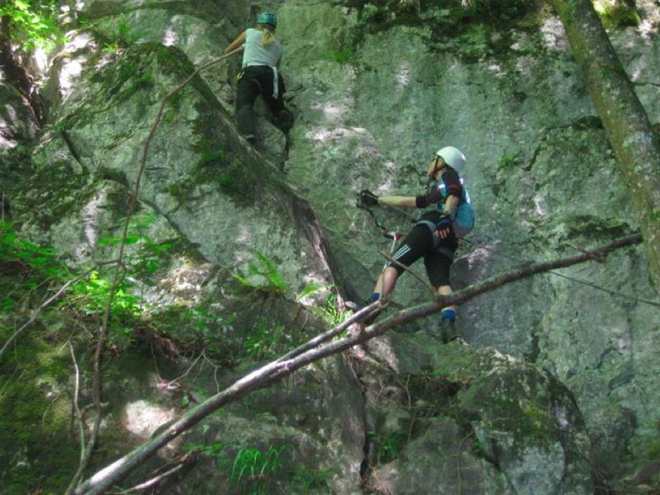 In der Örflaschlucht Richtung Meschach  ist einer der schönsten Klettersteige beheimatet