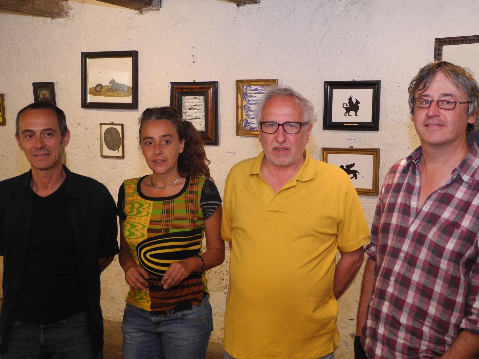 (l.) Der Künstler Edgar Leissing mit den französischen Partnern