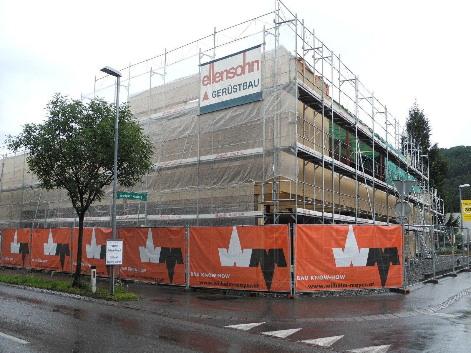 Der Rohbau für das neue Pfarrzentrum Altenstadt ist fast fertig gestellt.