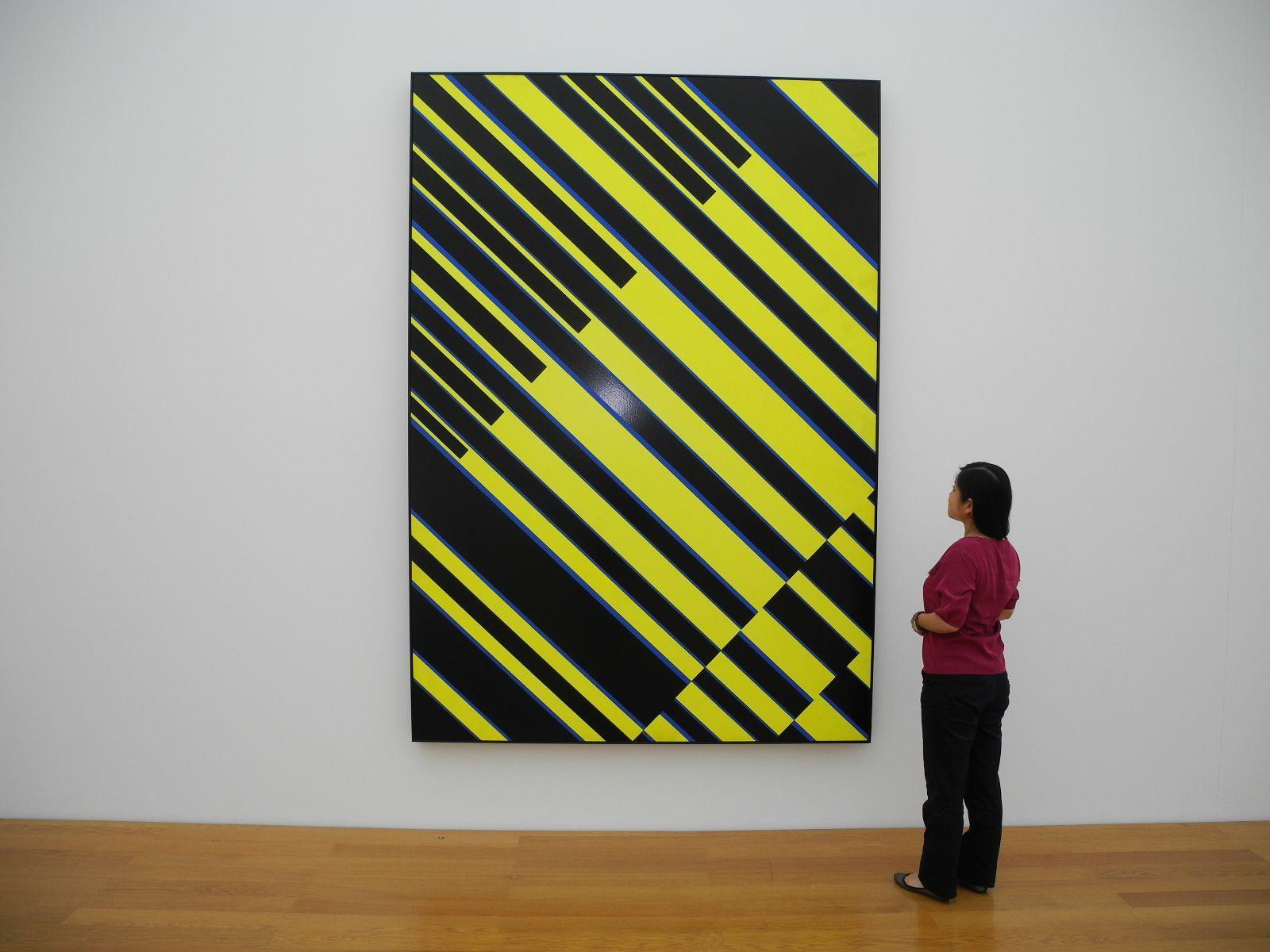 Eines der großflächigen streng geometrischen Kunstwerke von Fruhtrung