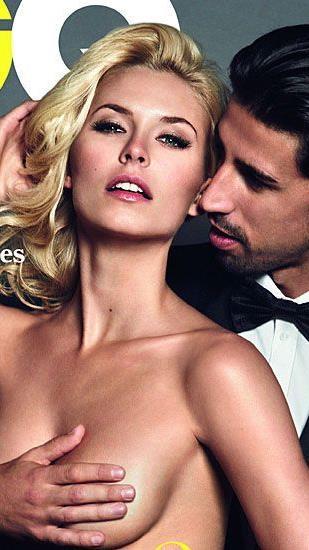 Lena Gercke mit ihrem Sami auf dem GQ-Magazin-Cover
