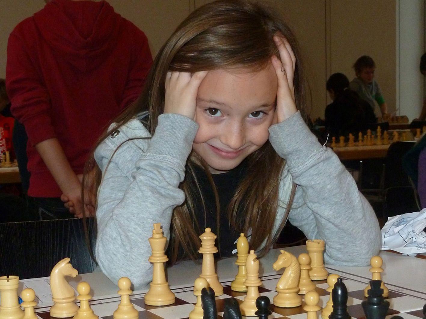 Alexa Nussbaumer wurde Zweite in der Klasse U9 bei den Ö. Schach-Nachwuchsmeisterschaften