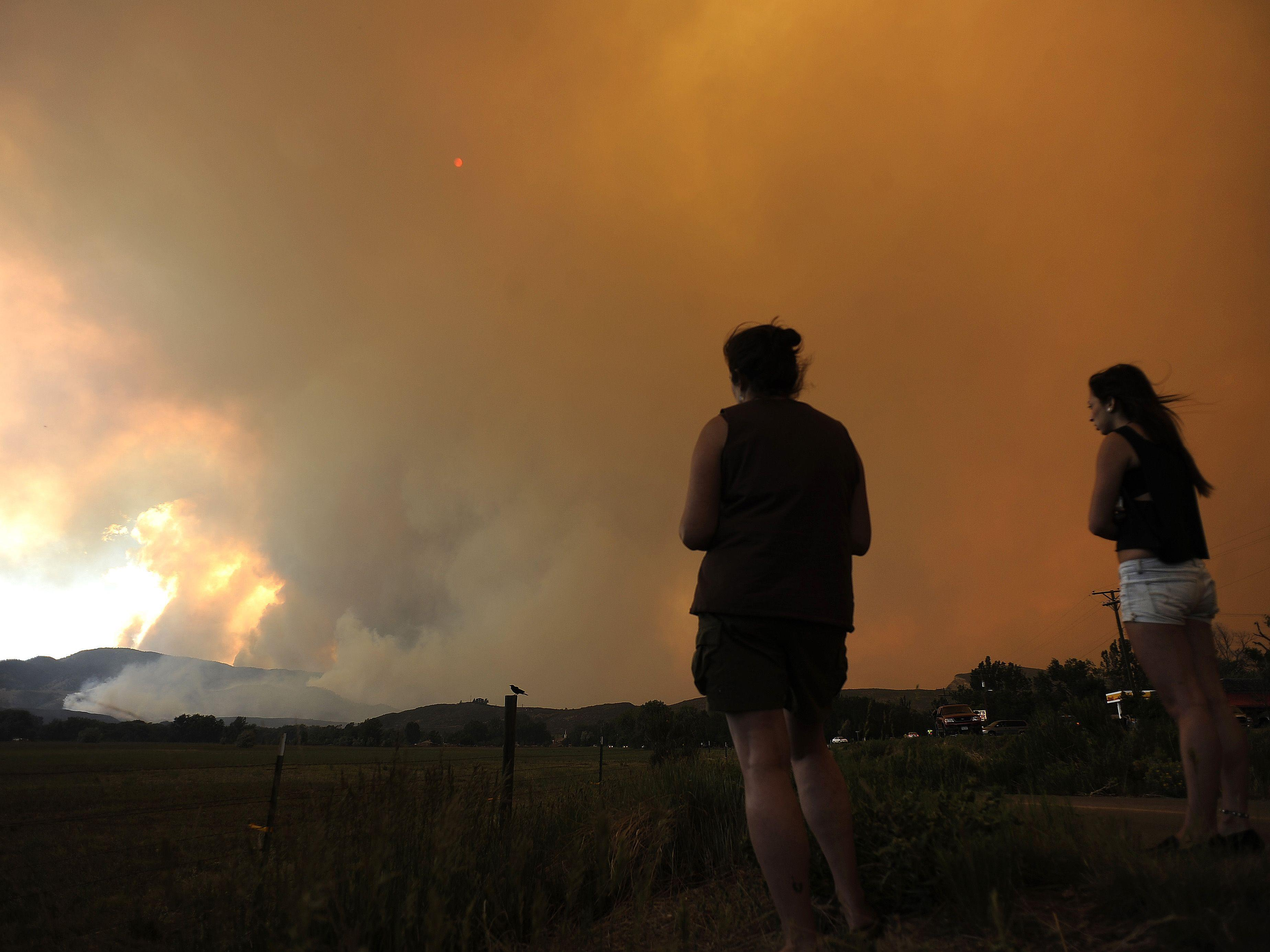 Buschfeuer in Colorado und New Mexico: Löschflugzeuge im Einsatz.
