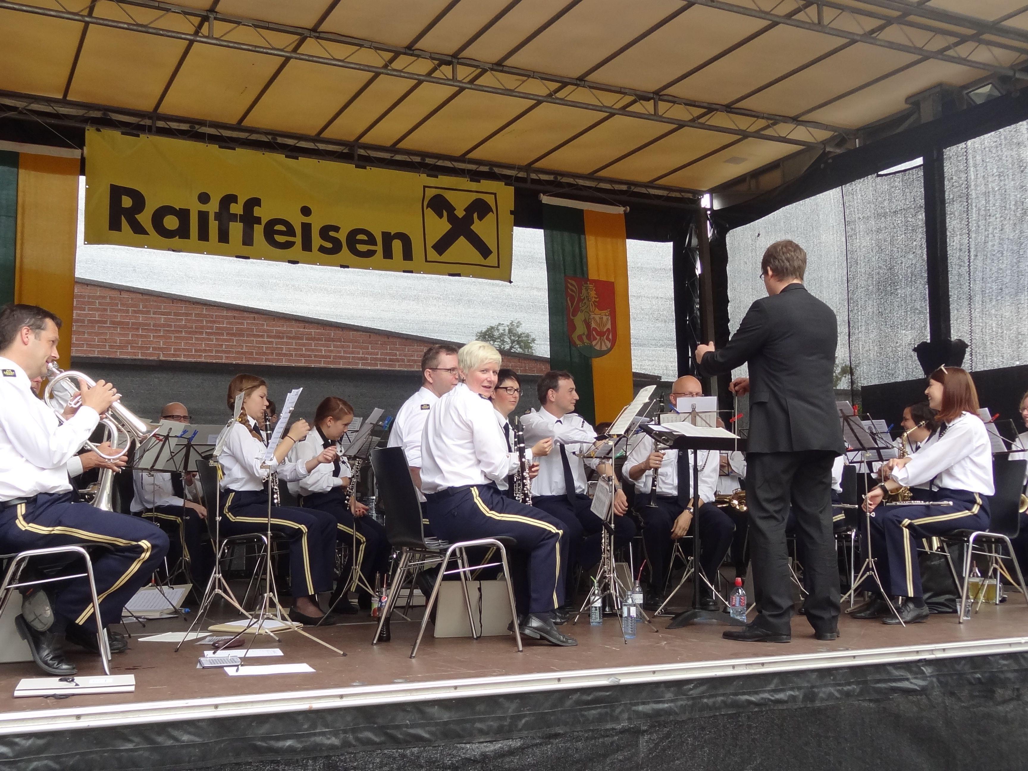 Der Musikverein Lustenau lud zum traditionellen Musikfest ein.