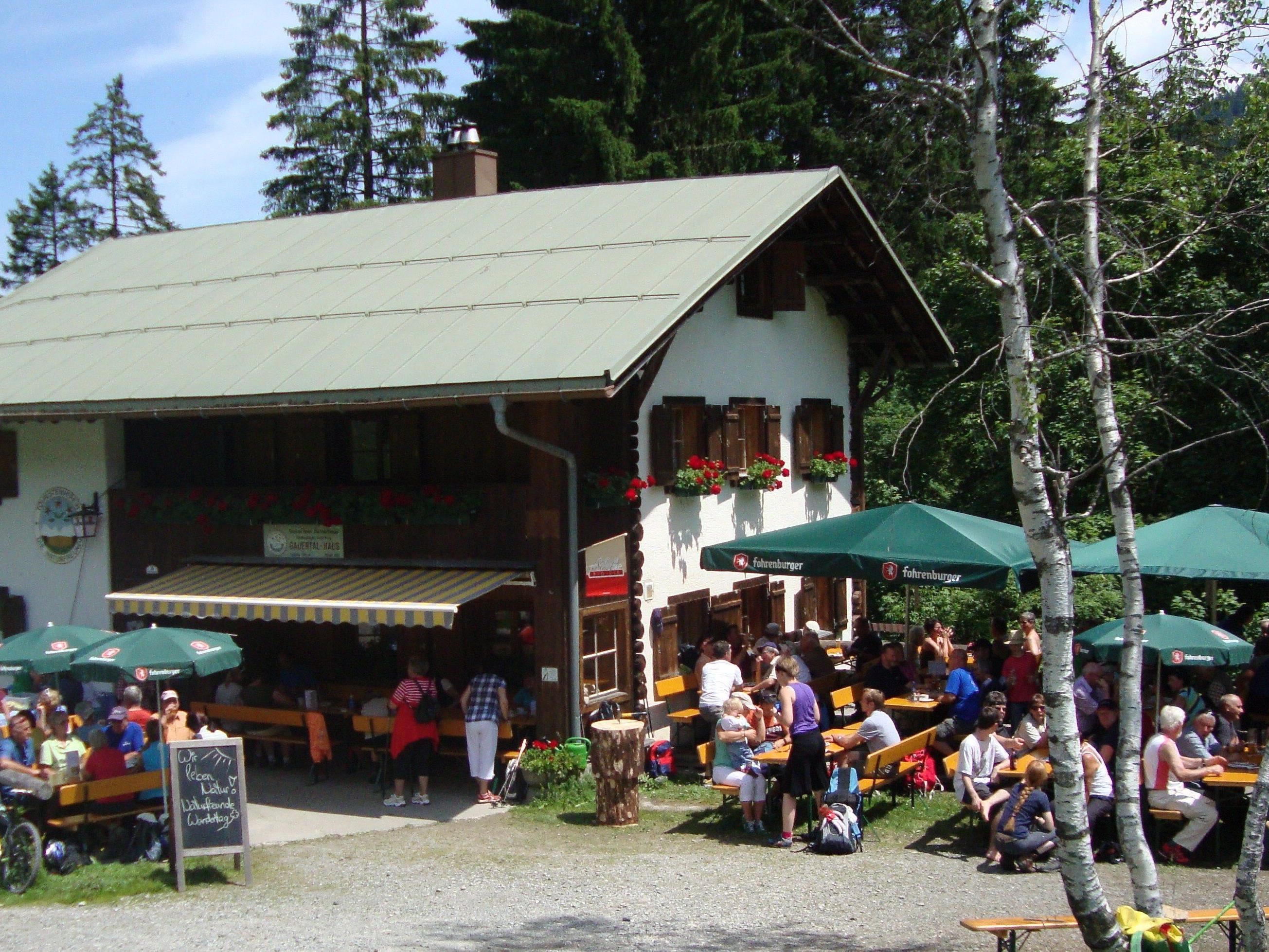 Naturfreundehaus Gauertal ist ein beliebtes Ausflugsziel.