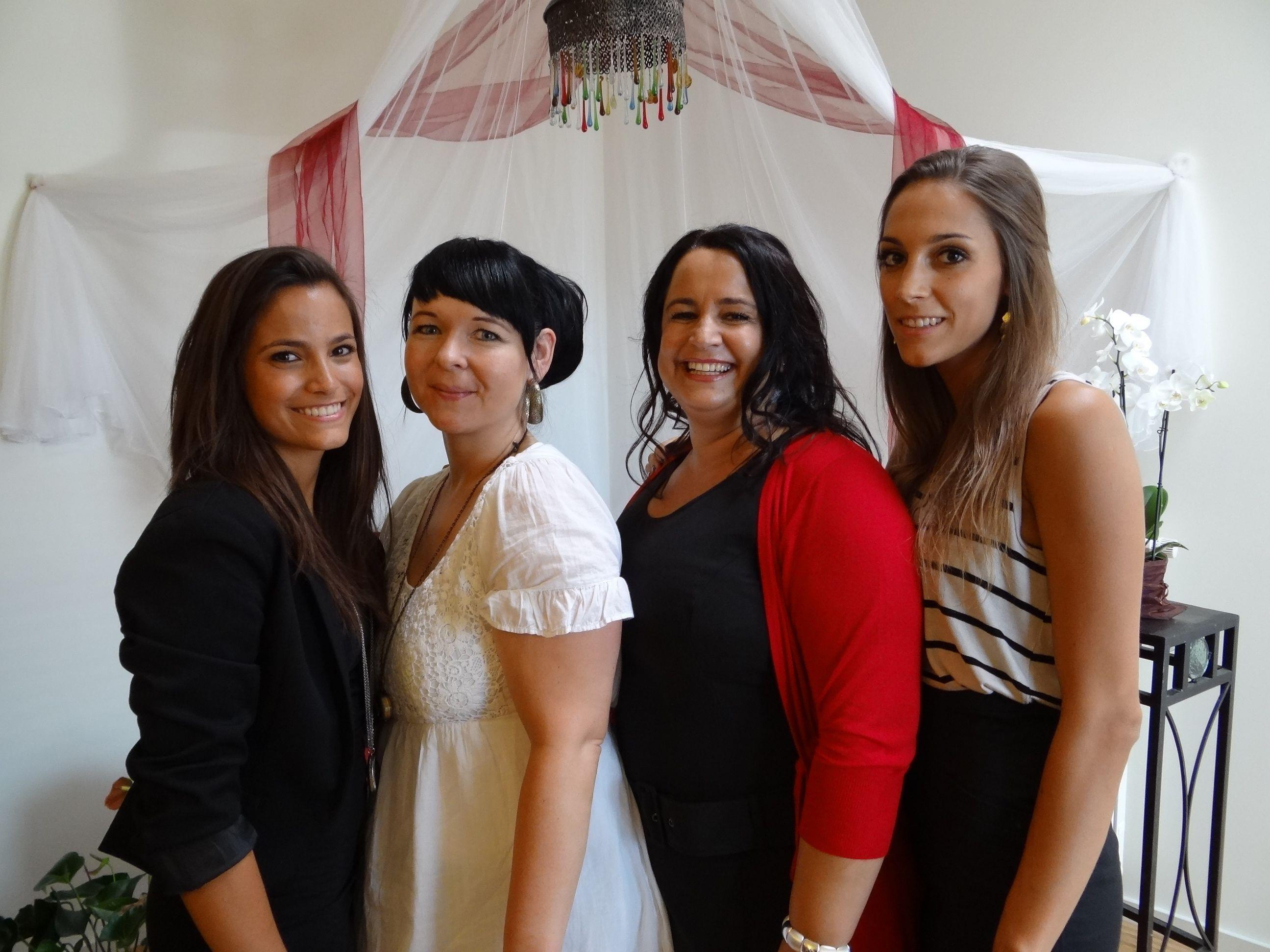 (v.l.) Das freundliche Basima Team: Rebecca Hartmann, Mary Burtscher, Mela Feistenauer & Jeannine Rohrmoser