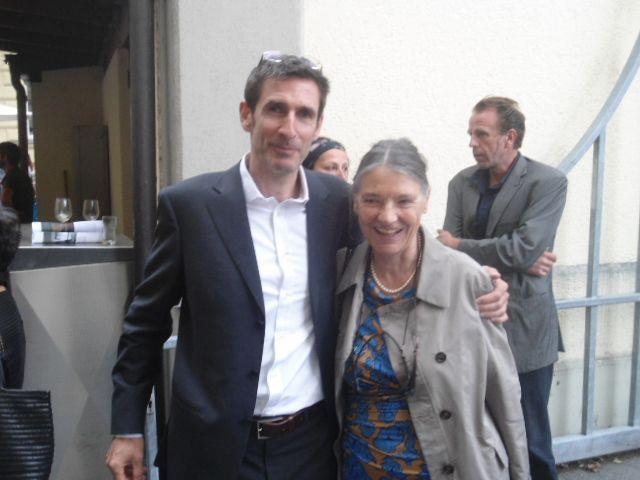 Kurator Thomas Durisch und Annalisa Zumthor