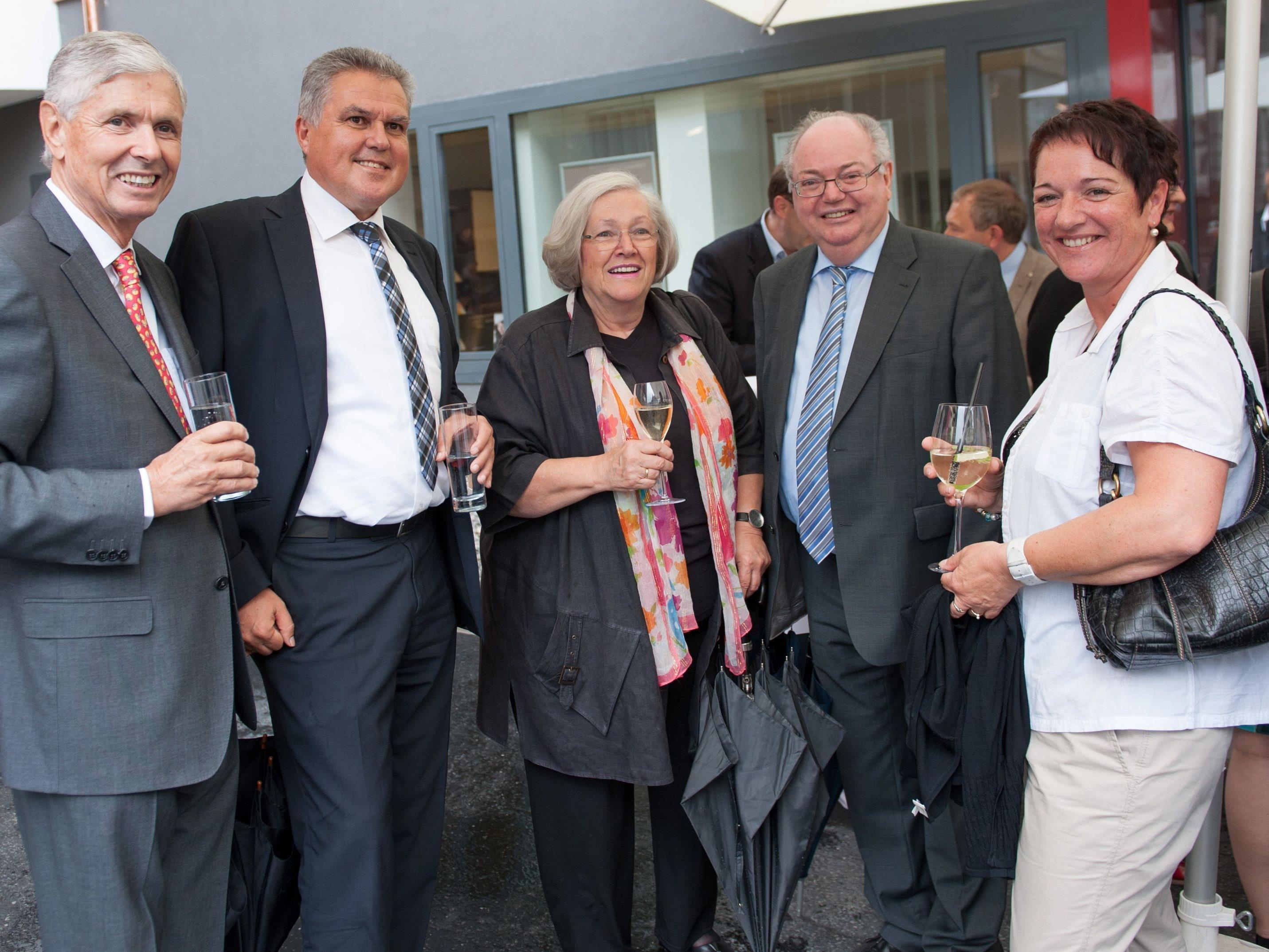 Walter Heinz Rhomberg, Günter Thurnher, Ingrid Sonntag, Wolfgang Rümmele und Monika Thurnher
