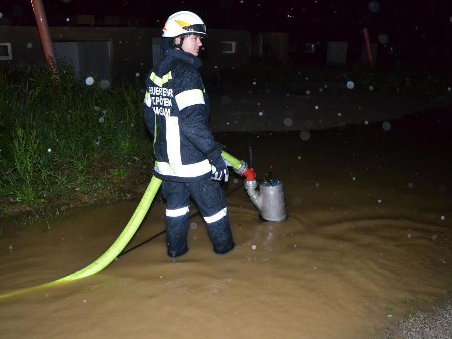 Im Großeinsatz standen die Feuerwehren nach den Unwettern in Niederösterreich