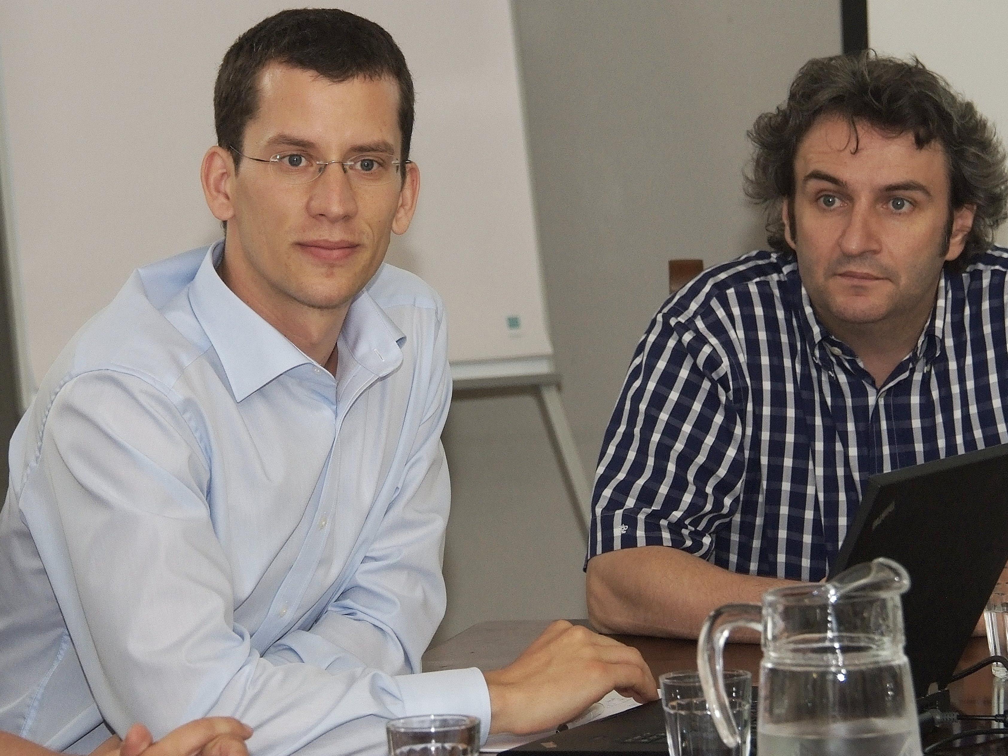 Nono Breuß (li.) von der ICG-Graz machte auf die brisante Finanzsituation aufmerksam.