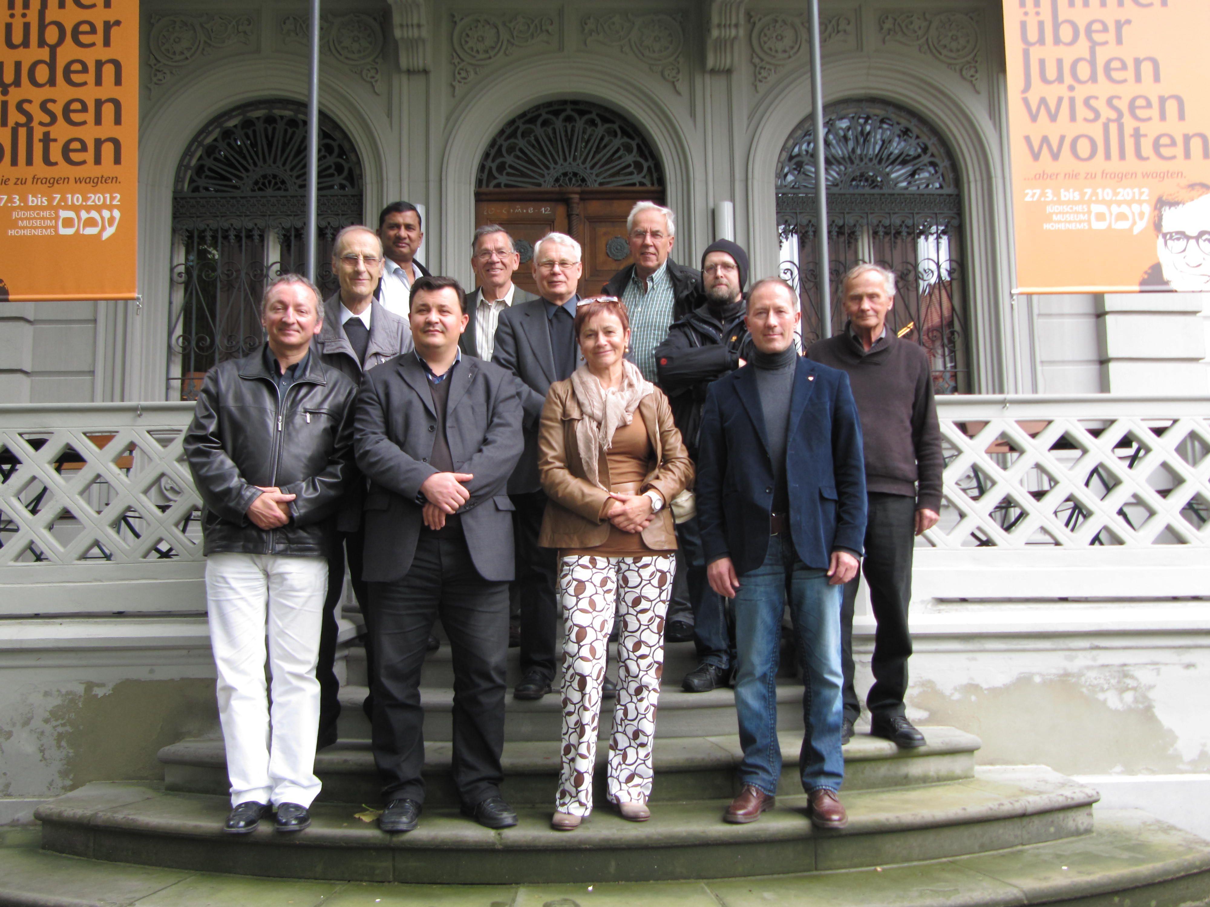 Dekan Peter Haas mit Mitbrüdern und Pastoralassisten besuchten  das Jüdische Museum.