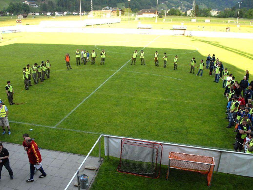 Bei der letzten Trainingseinheit der Spanischen Nationalmannschaft wurde Sicherheit besonders groß geschrieben.