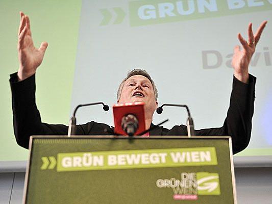 Klubobmann David Ellensohn am Sonntag bei der 67. Landesversammlung der Wiener Grünen