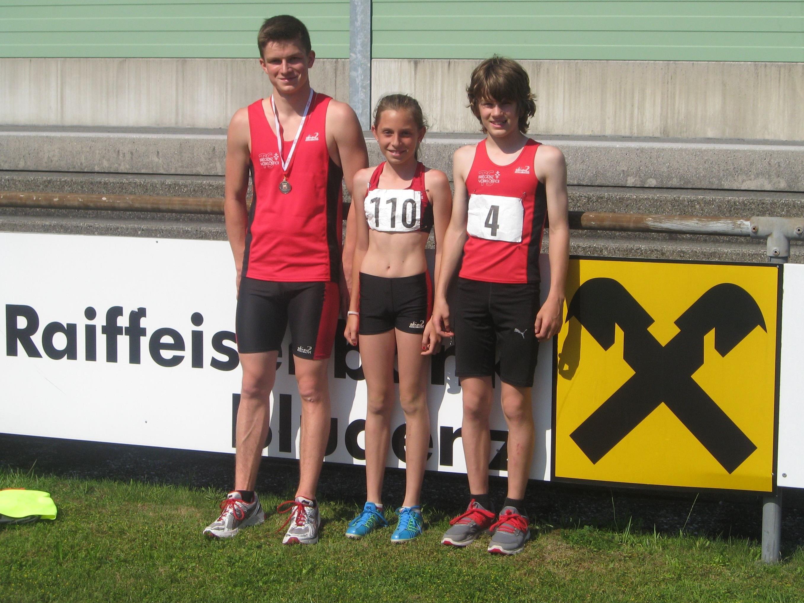 Die VLV-Medaillengewinner: v.l. Martin Peter, Jennifer Paulic und Martin Sieber