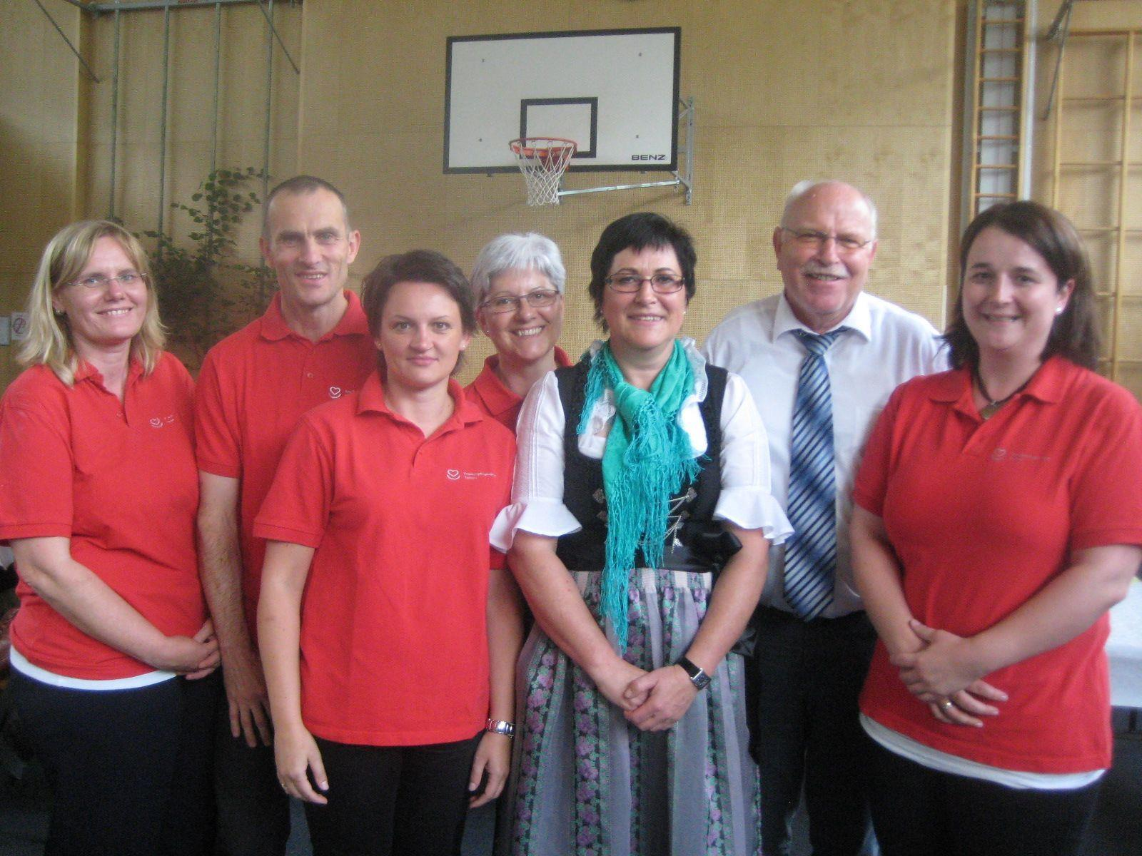 Das Pflegeteam mit Obmann Walter Fontana.