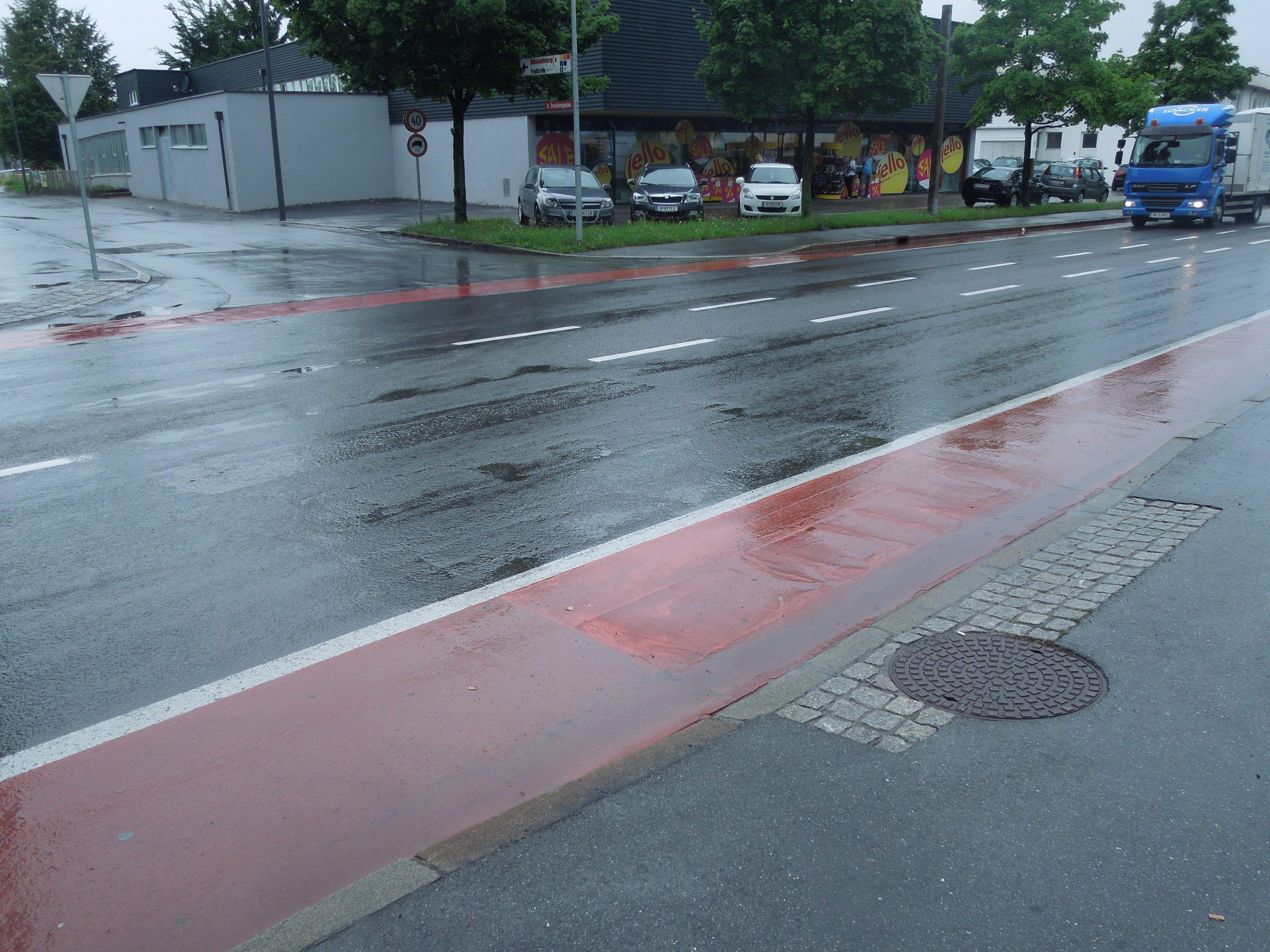 Wegen zu geringer Fußgängerströme wurde der Zebrastreifen bereits vor fünf Jahren aufgelassen.
