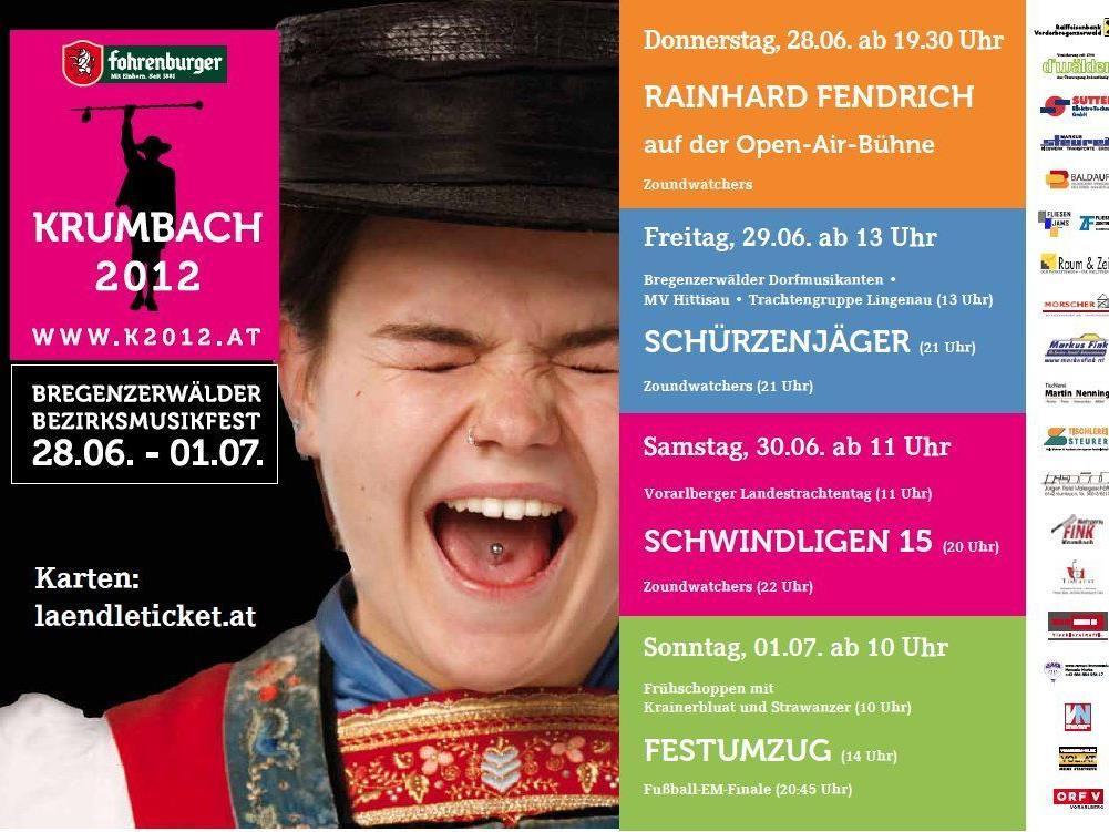 Plakat für Bezirksmusikfest Krumbach sorgt für Aufregung.