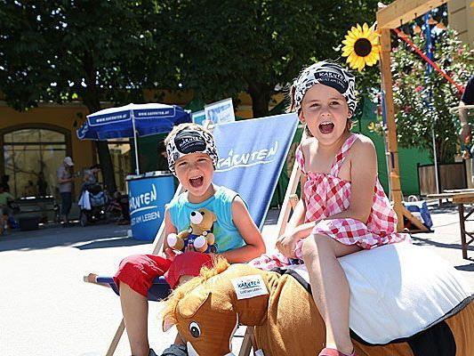 Die kleinen Gäste hatten beim Kärnten-Fest in Schönbrunn ihren Spaß