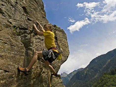 Klettern im Montafon.
