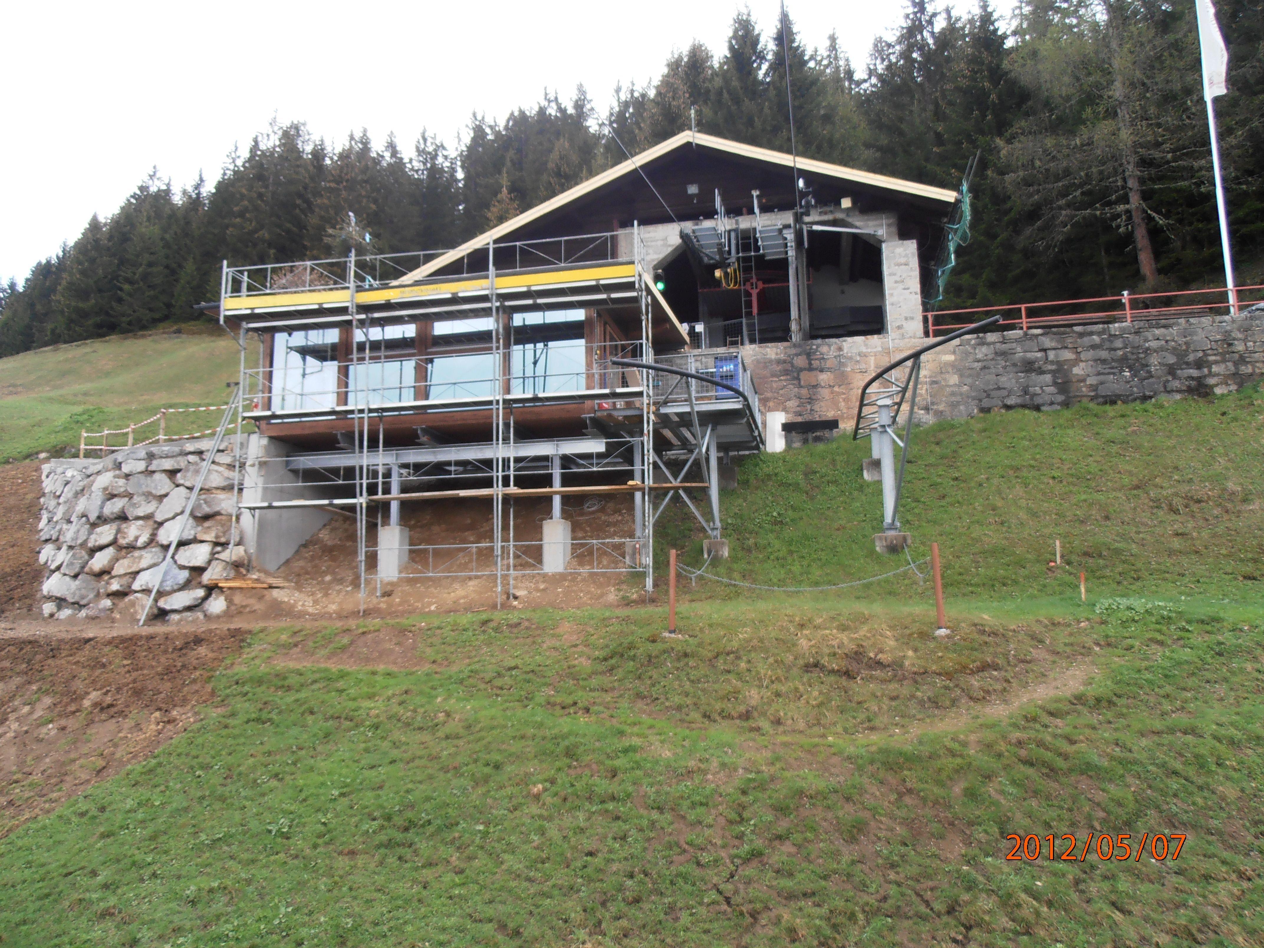 Die Bergstation der Kristbergbahn wurde modernisiert.