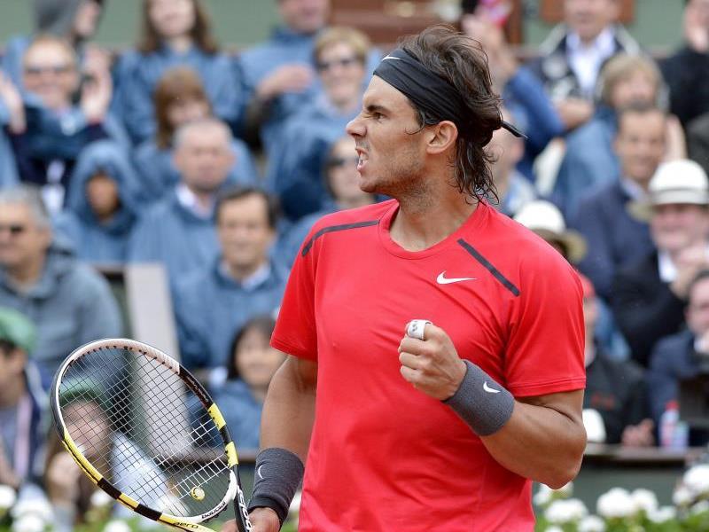 Rafael Nadal am Montag, 11.6, nach seinem Sieg über Novak Djokovic in Paris.