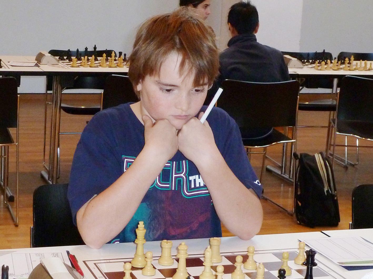 Patrick Nussbaumer holte bei den Schach U10 bis U14-ÖM die einzige Medaille für Vorarlberg.