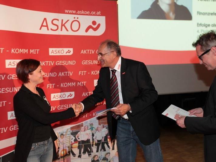 Petra Longhi, Eckhard Neururer ASKÖ Präsident