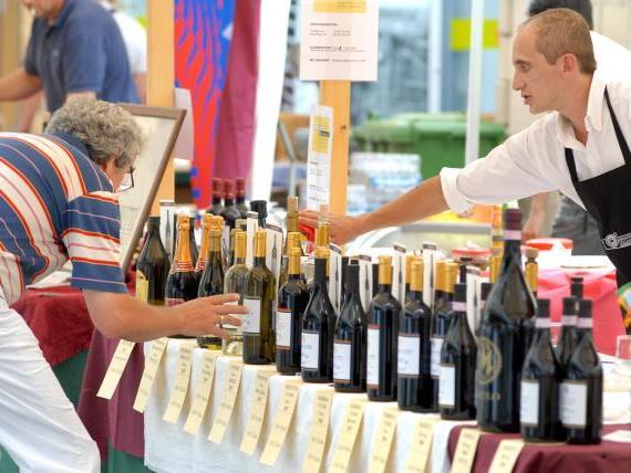 Weinverkostung in der Bregenzer Innenstadt