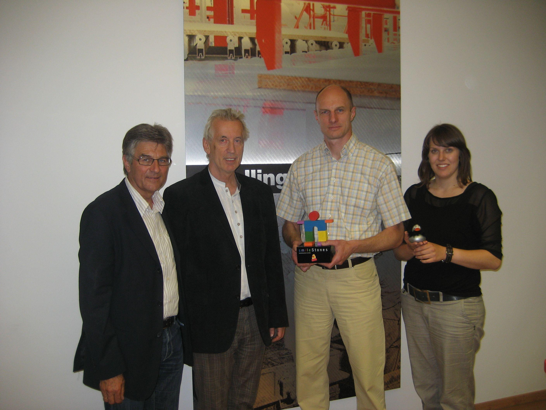 vlnr: Egide Bischofberger, Hubert Löffler, Marketingleiter Stefan Krebs, Marina Töchterle (Marketing)