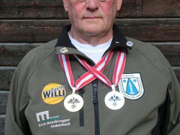Gold und Silber für den Andelsbucher Schützen Josef Kohler