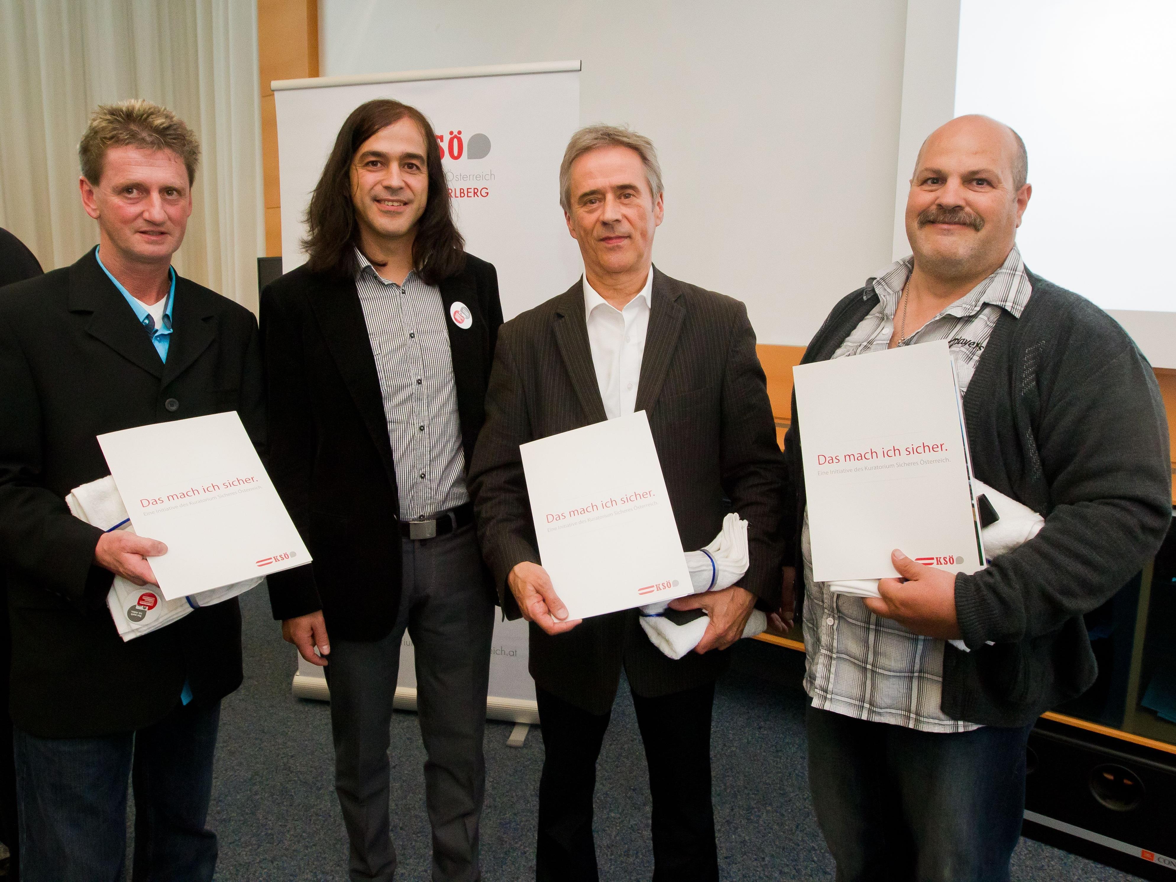 Der Sicherheitspreis des KSÖ wurde in diesem Jahr im Medienhaus in Schwarzach überreicht.
