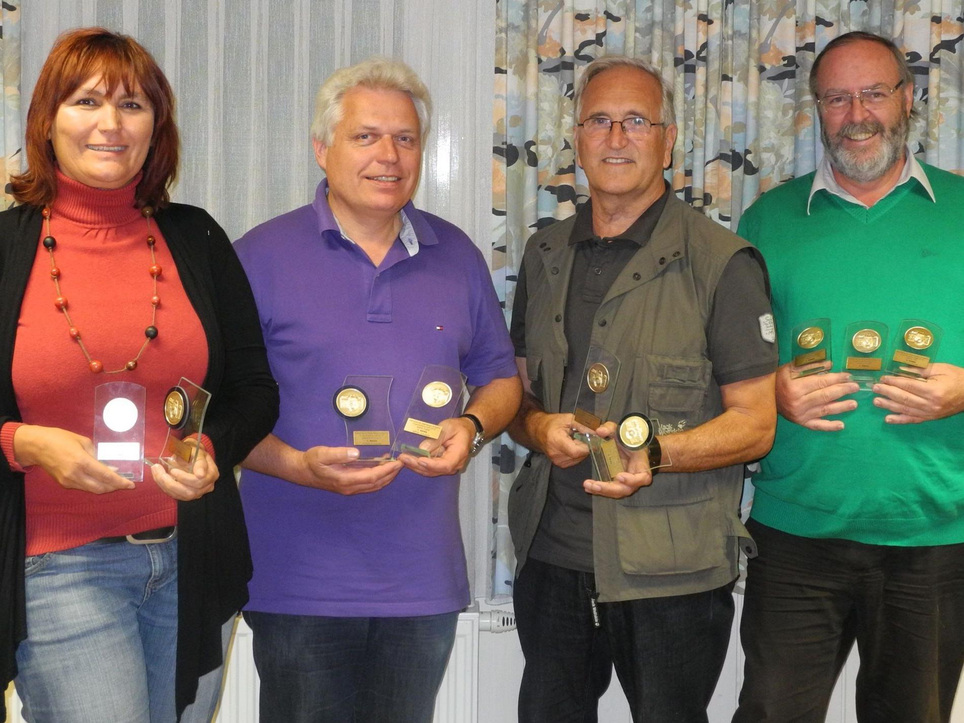 v.l.n.r.: Claudia Longo, Wilfried Schneider, Erich Auderer, Heinrich Spöttl