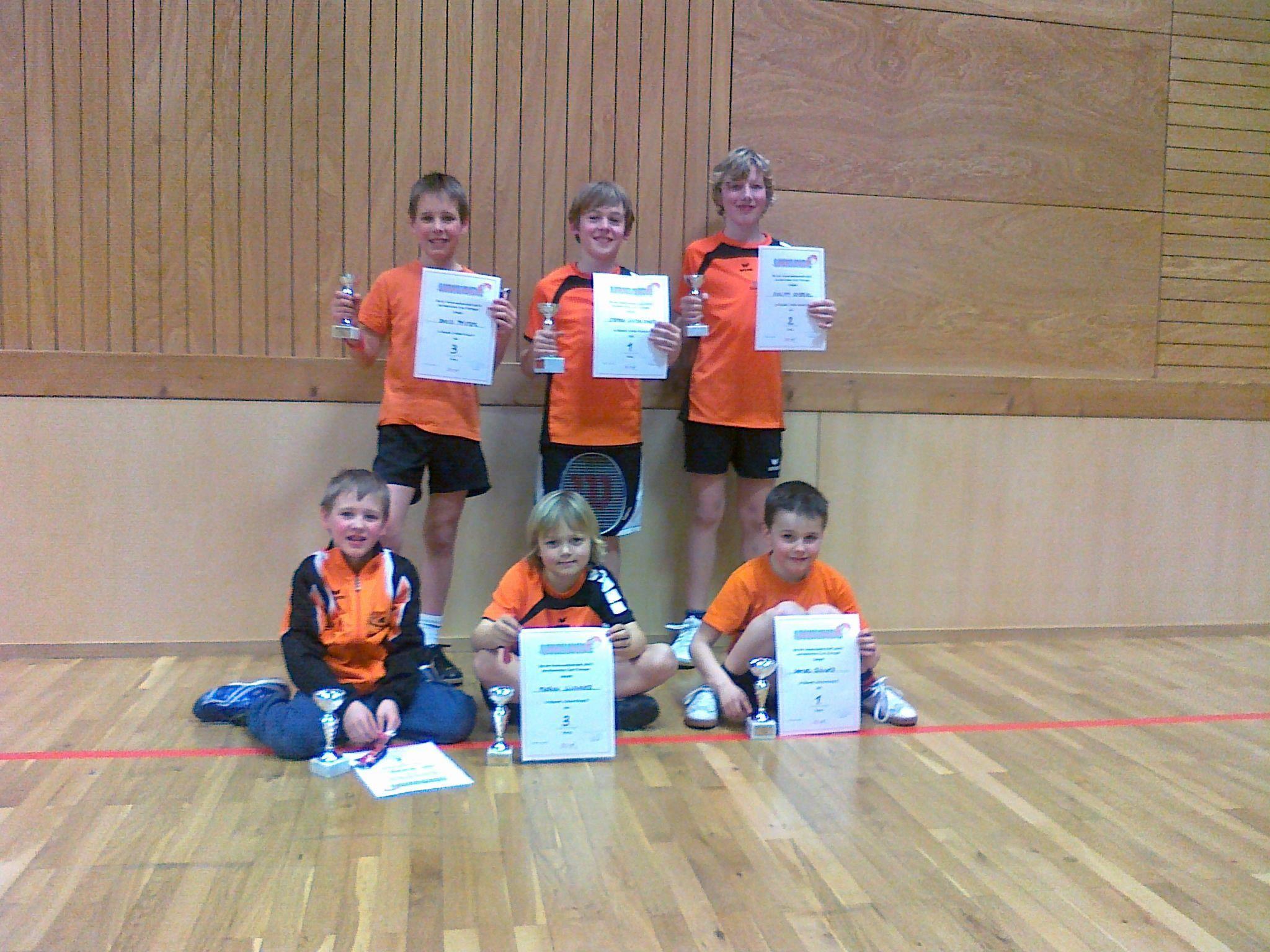 Siegerfoto der Schüler-Vereinsmeisterschaften