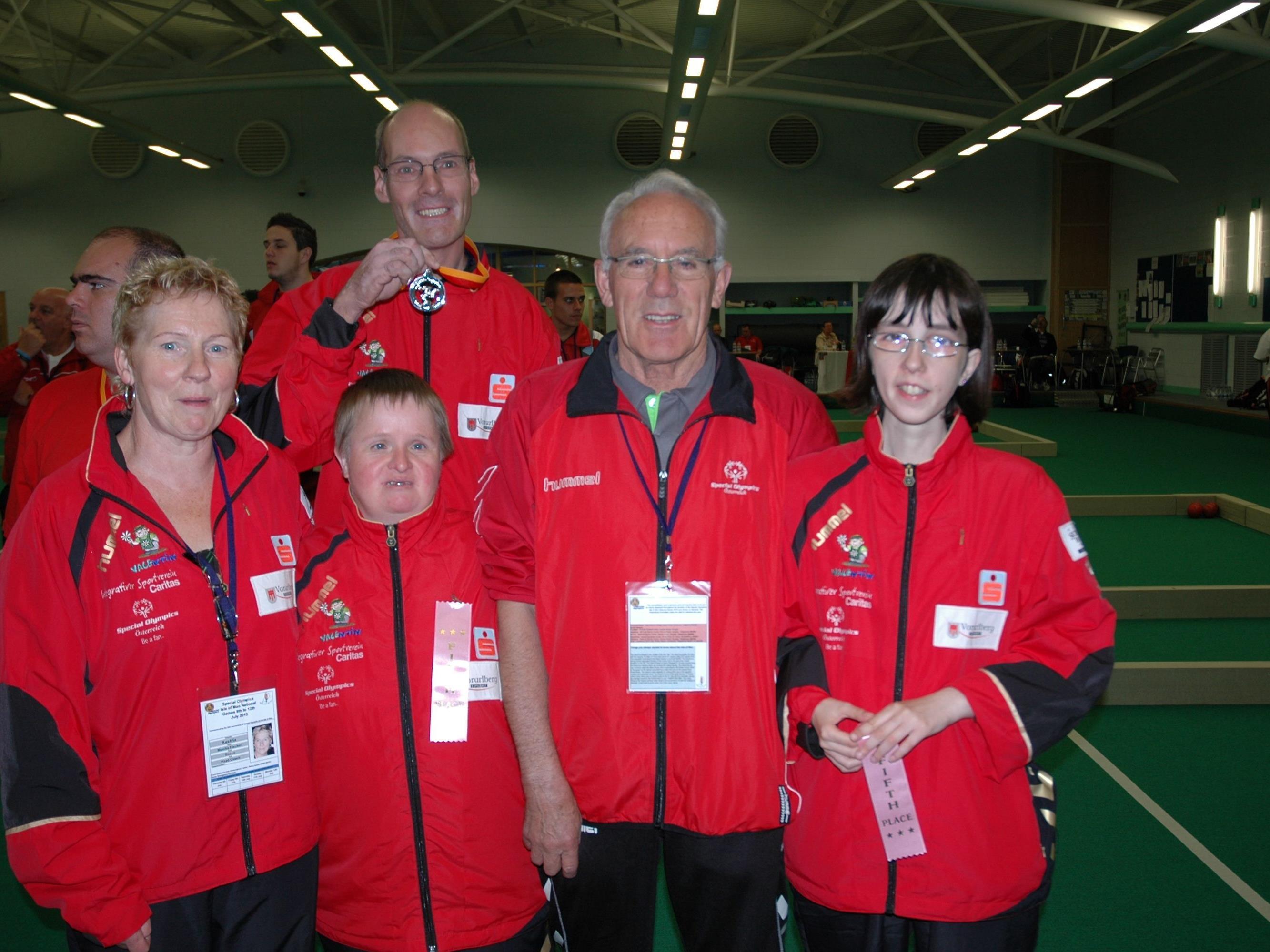 Das Boccia-Team aus Bludenz freut sich auf die Meisterschaften in Hard.