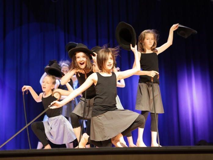 Viel Applaus erntete die Tanzgruppe für ihre Darbietung mit Hut und Stock.