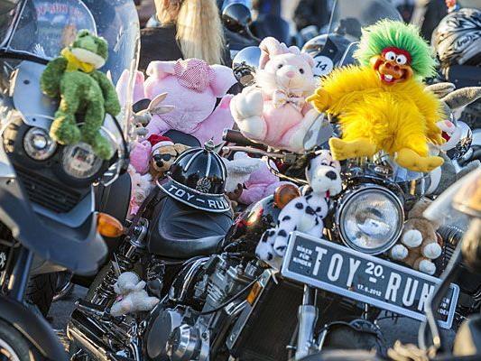 Auch beim 20. Toy Run stiegen die Biker für die gute Sache in den Sattel